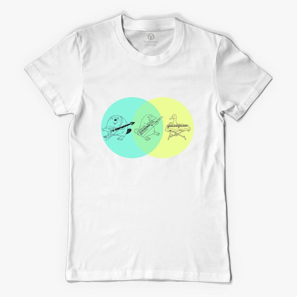 Keytar Platypus Venn Diagram Womens T Shirt