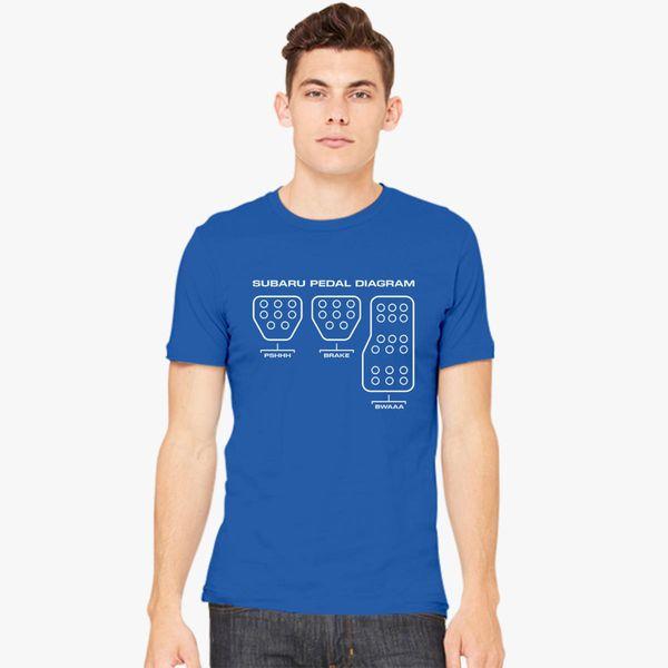 Subaru Pedal Diagram Men S T Shirt Customon Com
