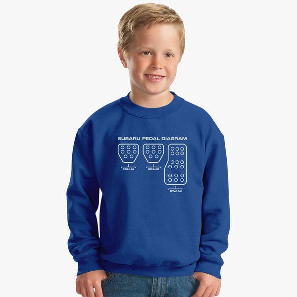 Subaru Pedal Diagram Kids Sweatshirt Customon Com
