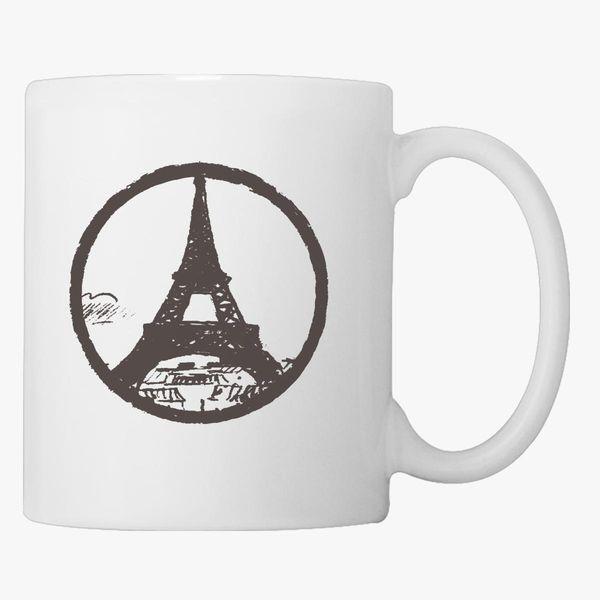 Eiffel Tower Peace Sign Coffee Mug