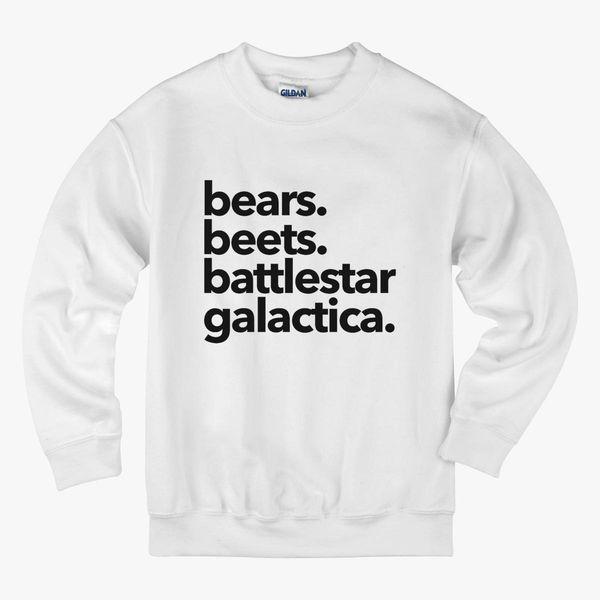 Bears Beets Battlestar Galactica Kids Sweatshirt Customoncom