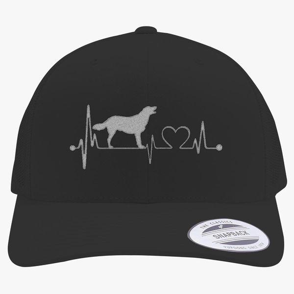 dcadfcfa8ea Golden Labrador Heartbeat Retro Trucker Hat (Embroidered)