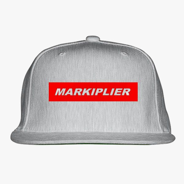 markiplier red box Snapback Hat - Embroidery ... 9e7e2a2a1ad0