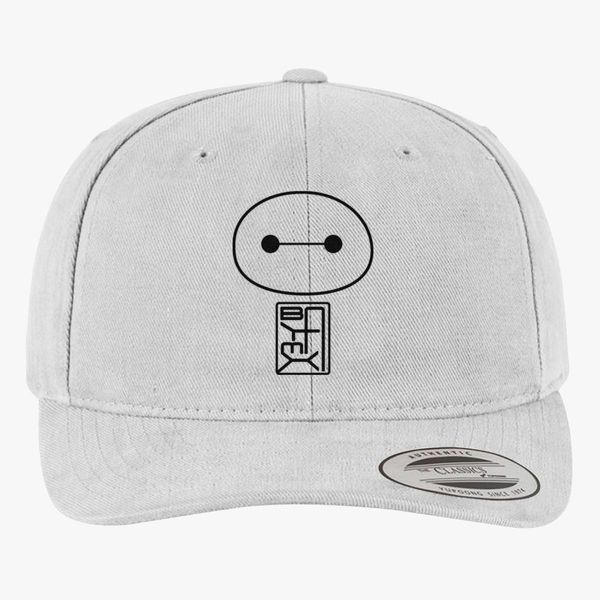 Big Hero Six Baymax face Brushed Cotton Twill Hat (Embroidered ... 29dbee8abece