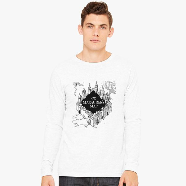 Marauder\'s Map Shirt The Marauder's Map Long Sleeve T shirt | Customon.com Marauder\'s Map Shirt