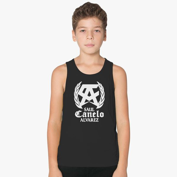 SAUL CANELO ALVAREZ - WHITE Kids Tank Top +more bf914389031f