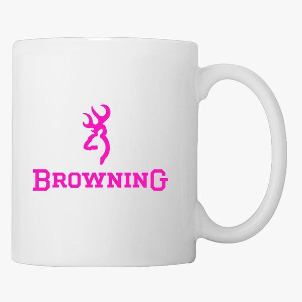 Browning Pink Logo Coffee Mug Customon