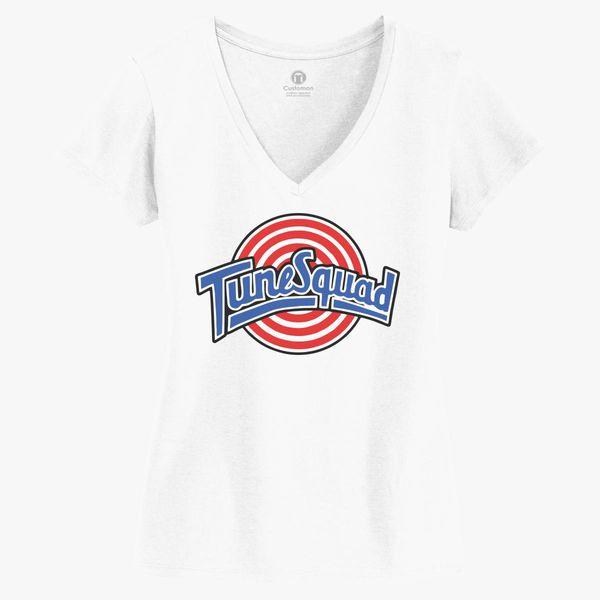 Tune Squad Women s V-Neck T-shirt  9afd3f4af4