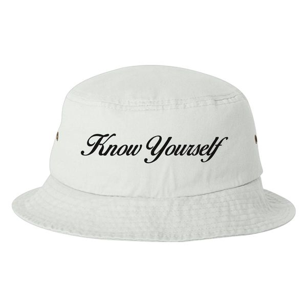 Know Yourself Bucket Hat White / One Size