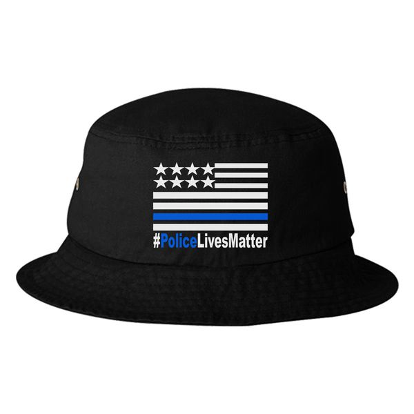 Police Lives Matter Bucket Hat Black / One Size