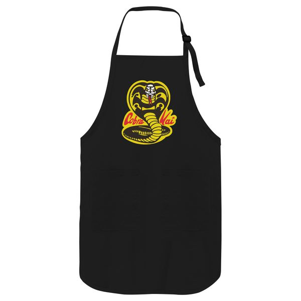 Cobra Kai Yellow Apron Black / One Size