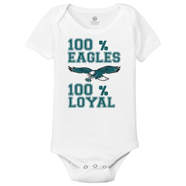 Philly 100 % Eagles 0 Loyal Baby Onesies White / 6M