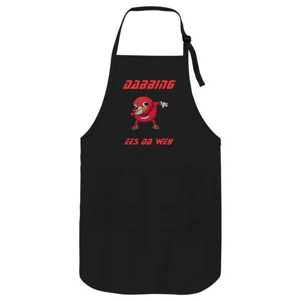 Dabbing Uganda Knuckles Do U Know Da Wae Apron Black / One Size