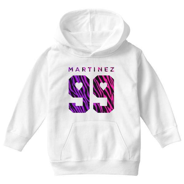 Martinez Twins Pink Kids Hoodie White / S