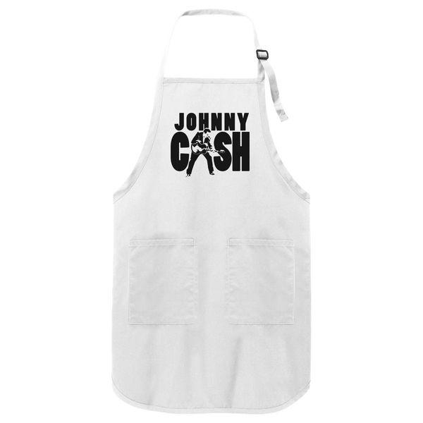 Johnny Cash Apron White / One Size