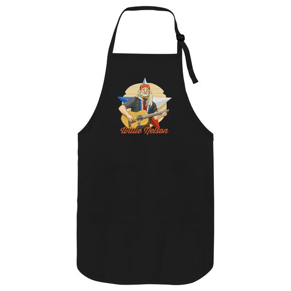 Willie Nelson Apron Black / One Size