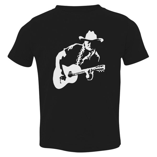 Willie Nelson Toddler T-Shirt Black / 3T