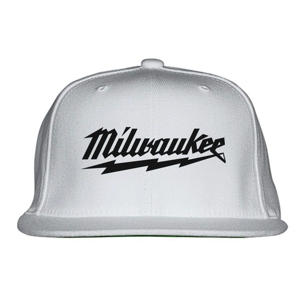 Milwaukee Logo Snapback Hat White / One Size
