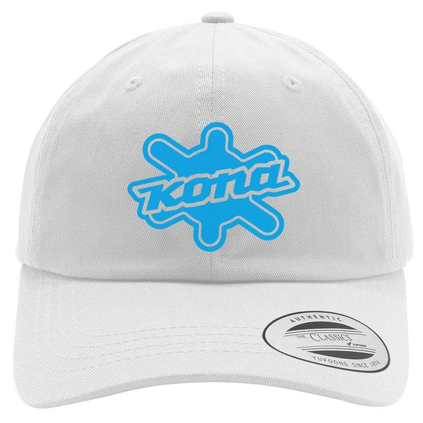 Kona Bikes Logo Cotton Twill Hat White / One Size