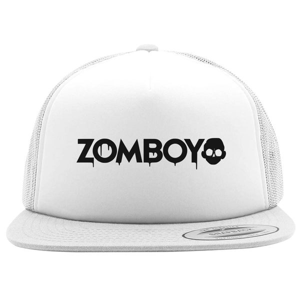 Zomboy Logo Foam Trucker Hat White / One Size