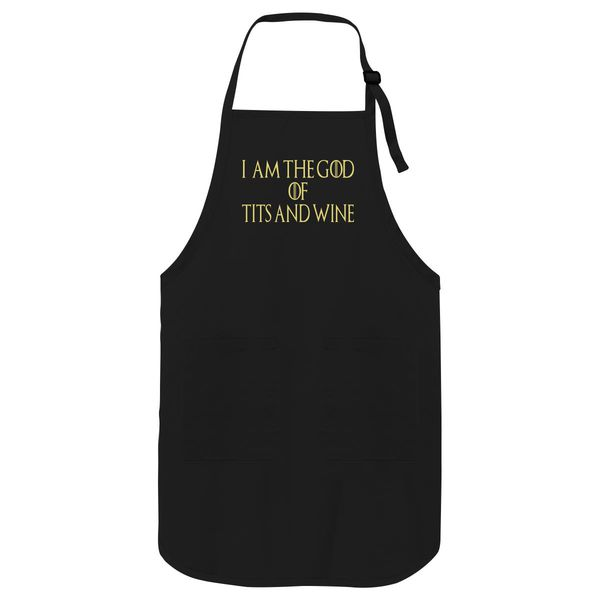 I'M The God Tits And Wine Apron Black / One Size