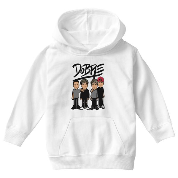 Dobre Brothers Dobre Twins Kids Hoodie White / S