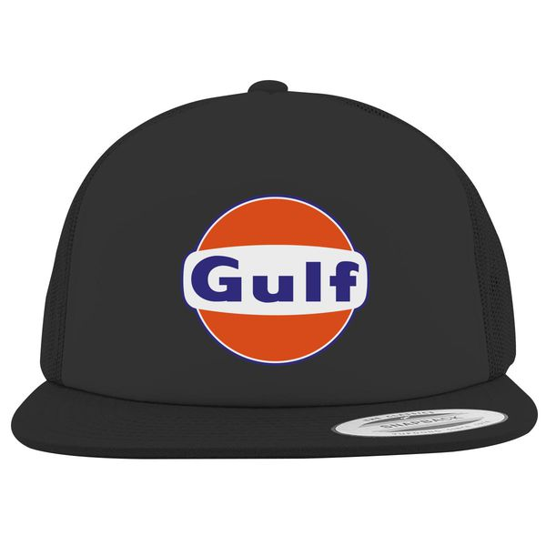 Gulf Logo Foam Trucker Hat Black / One Size