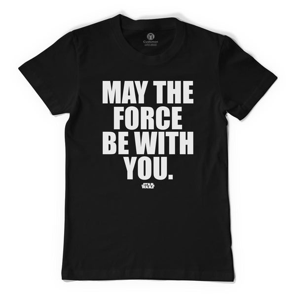 May The Force Be With You Men's T-Shirt Black / S