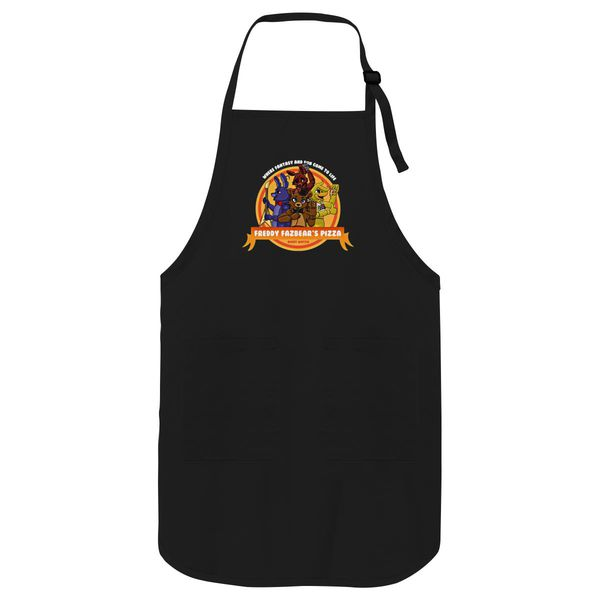 Five Nights At Freddy's Pizza Apron Black / One Size