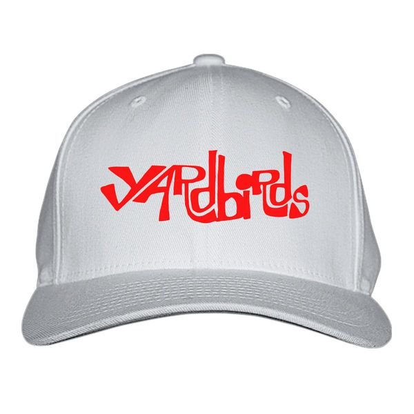The Yardbirds Band Logo Baseball Cap White / S/M
