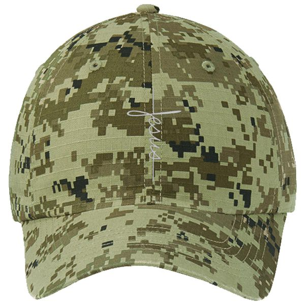 Jesus Ripstop Camouflage Cotton Twill Cap Green Camo / One Size