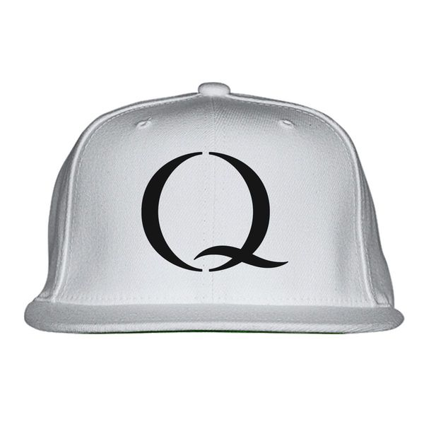 Q - Qanon Snapback Hat White / One Size