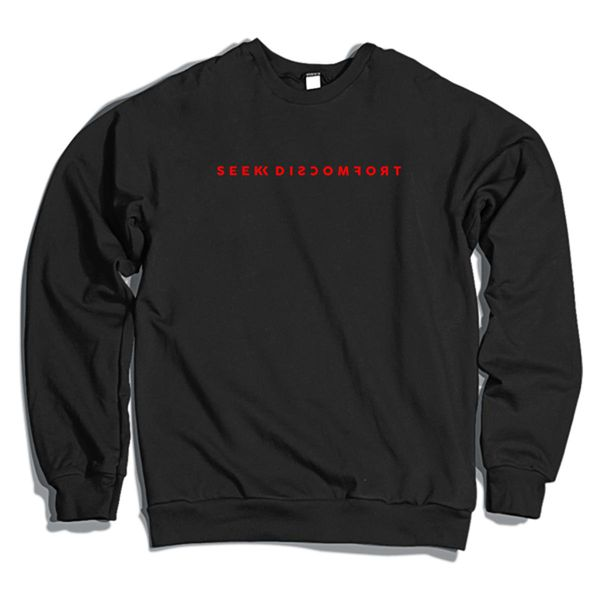 Seek Discomfort Crewneck Sweatshirt Black / S