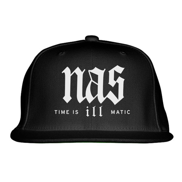 Nas Time Is Ill Matic Snapback Hat Black / One Size
