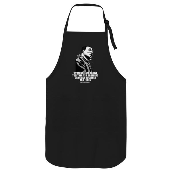 Martin Luther King Apron Black / One Size