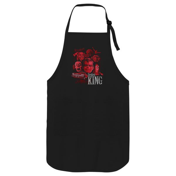 Halloween Stephen King Gift Apron Black / One Size