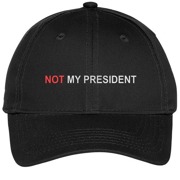 Not My President Youth Six-Panel Twill Cap Black / One Size