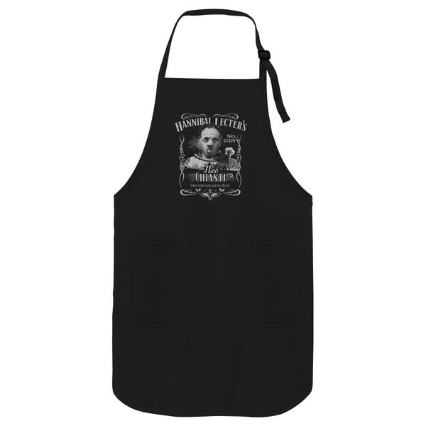Hannibal Lecters Cianti Apron Black / One Size