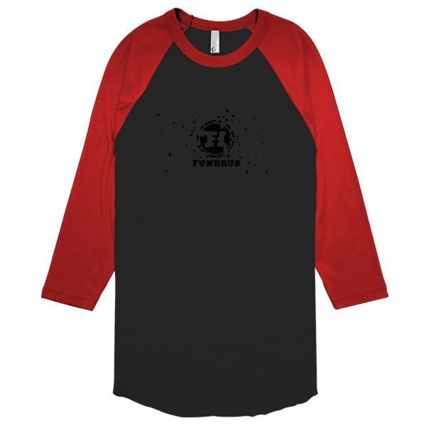 Funhaus Baseball T-Shirt Black Red / S
