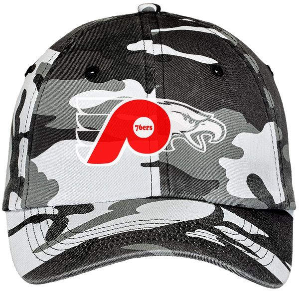 76Ers Phillies Flyers Eagles Camouflage Cotton Twill Cap Winter Camo / One Size