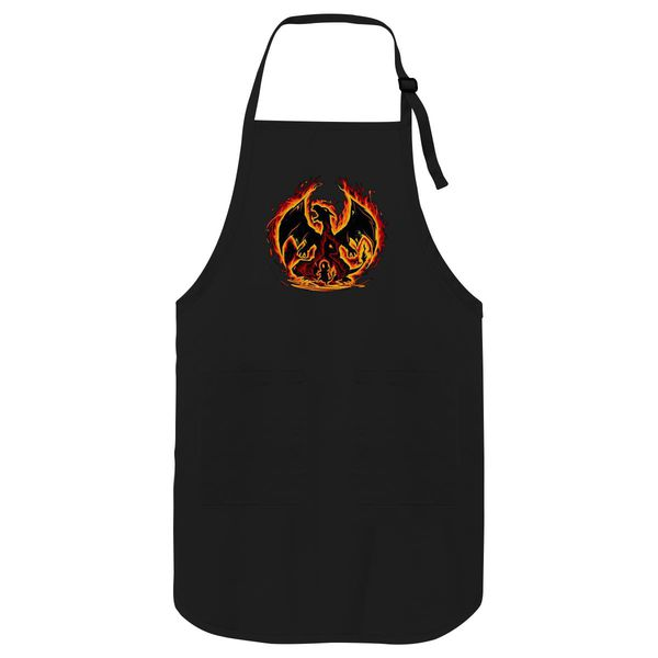 Charizard Fire Evolutions Apron Black / One Size