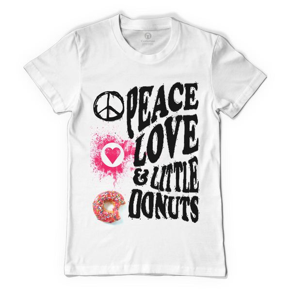 Peace, Love And Little Donuts Women's T-Shirt White / S