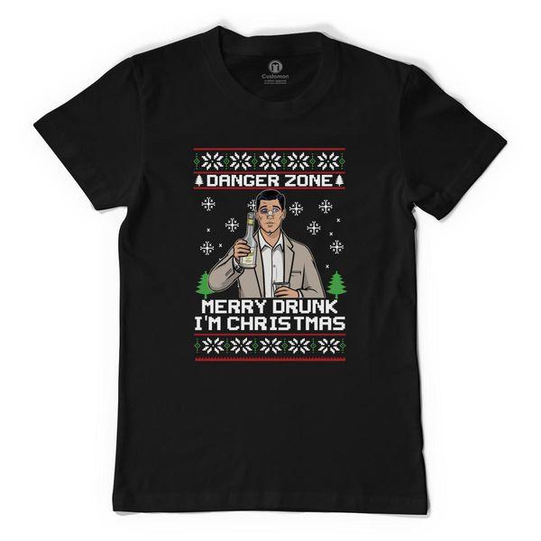 Archer-Danger Zone Tv Christmas Men's T-Shirt Black / S