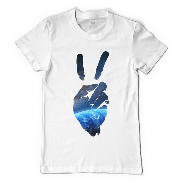 Peace In My Universe Women's T-Shirt White / S