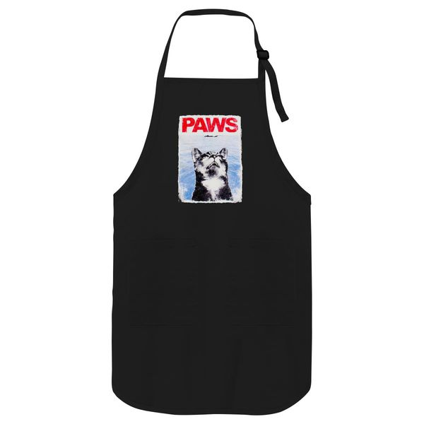 Paws Cat Jaws Apron Black / One Size