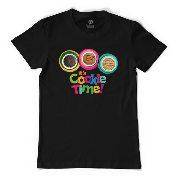 Girls Scout Cookie Time Men's T-Shirt Black / S