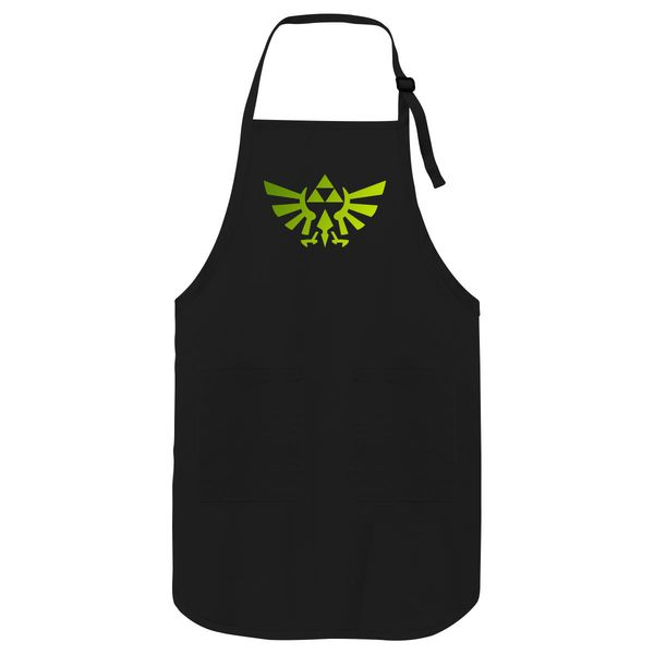 Zelda Triforce Apron Black / One Size