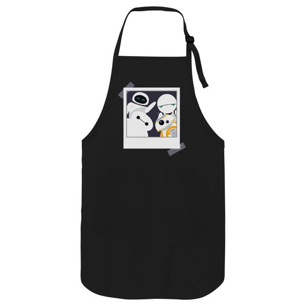 Baymax And Friends Selfie Apron Black / One Size